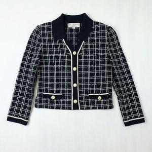 St. John Collection Navy Santana Knit Jacket
